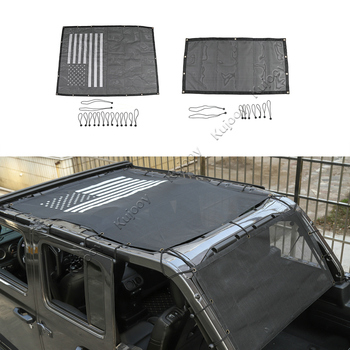 Car Top Sunshade Cover for Jeep Wrangler JL 2018 Up Roof Anti UV Sun Protection Mesh Net for Jeep JL Wrangler Accessories
