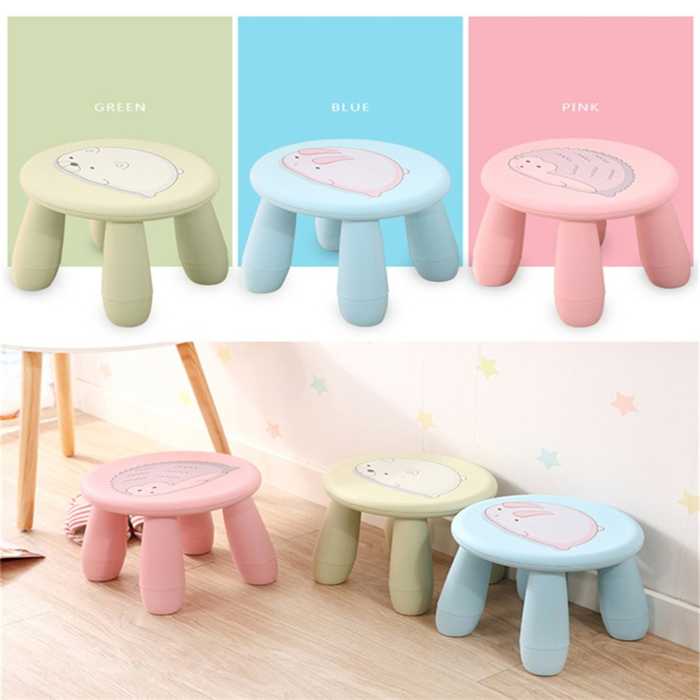 купить Creative Cute Cartoon Stools Children Stool Portable Plastic Stool Chair Bench Detachable Stool for Home Outdoor Travel по цене 1359.27 рублей