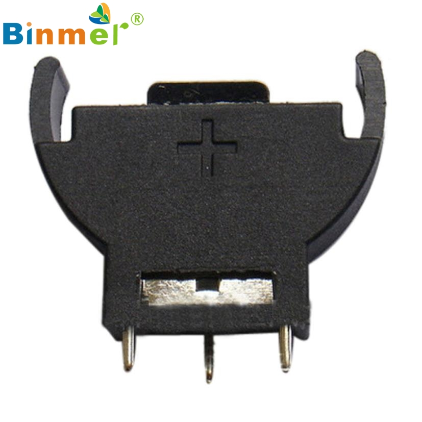 Beautiful Gift New Vertical CR2032 2025 Half-Round Battery Coin Button Socket 3 PIN Holder Case Wholesale price Apr28