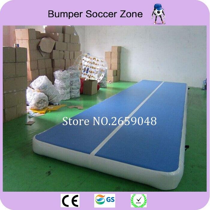 Envío libre 10x2 m pista de aire inflable Guangzhou Airtrack inflable fábrica gimnasio Durable Tumbling esteras para gimnasia envío bomba