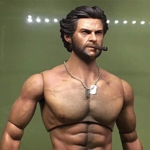 1/6 Scale Wolverine Head Sculpt ELEVEN LOGAN  Head Carving With Cigar Model Toy for 12in Hot Toys Phicen Tbleague Muscular Body цены