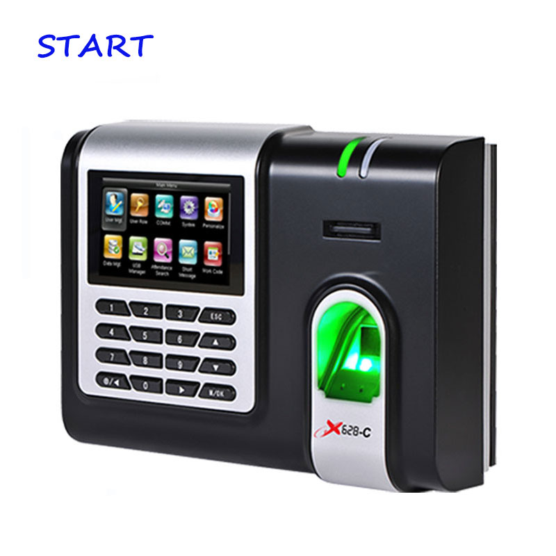 ZK X628-C Fingerprint Time Attendance 3 Inch Color Screen TCP/IP Biometric Fingerprint Time Clock