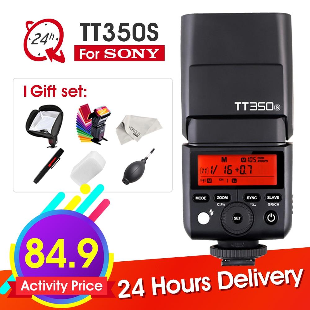 Godox TT350 TT350S 2.4G 1/8000s TTL GN36 Wireless Speedlite Flash light for Sony camera A7 A7R A7S A7 II A7R II A7S II A6300 fotga dp500iii uninterrupted v mount bp battery power supply plate for sony a7s a7r a7 ii