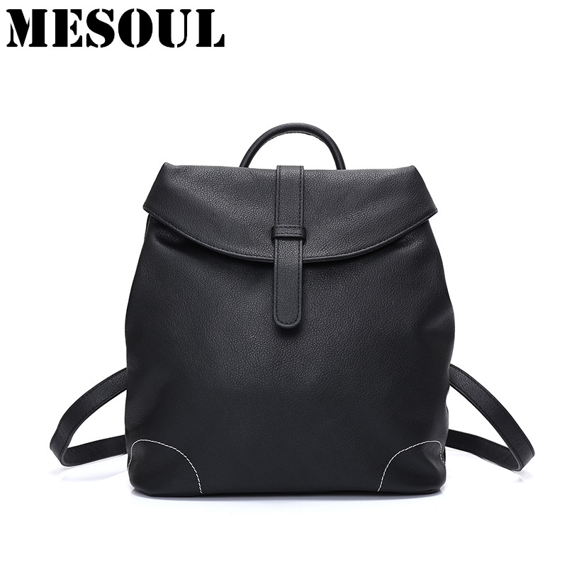 NEW 2017 Genuine Leather Women Backpacks Fashion Brand High Quality Ladies Shoulder Bags Backpacks For Teenage Girls School Bags цена