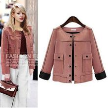New Autumn Winter Women Coats Vestidos Plus Size Loose Fashion Solid Suede Fabric Jacket Coat For Women Large Outerwear XL-5XL