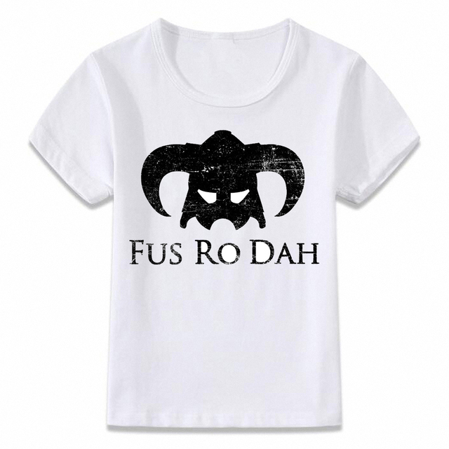 d198f552 Kids Clothes T Shirt Skyrim Elder Scrolls Dragonborn T-shirt Boys and Girls  Toddler Tee