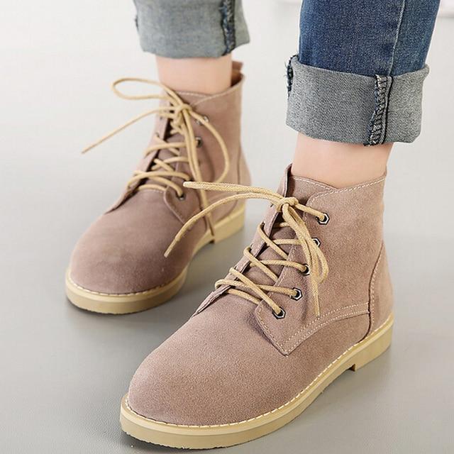 b62a89b13e4c6 Estilo europeo Vintage marting botas para mujer botines zapatos de mujer  invierno botas militares bottes femme