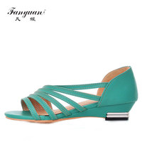 Fanyuan Hot Sale Brand New 2018 Fashion Women Flat Sandals Sweet Cutout Summer Shoes High Quality