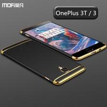 Oneplus 3 Т чернота крышки случая oneplus 3 случае plue 3 т MOFi оригинальный задняя крышка 3 в 1 совместных крышка коке капа funda 5.5″