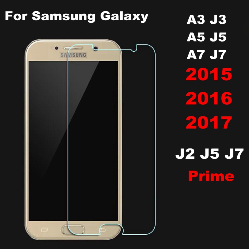 Tempered Glass For Samsung Galaxy A3 A5 A7 2017 J1 J3 J5 J7 2016 2015 J2 J5 J7 Prime Pro Core II G355H G360 S3 S4 S5 Film Case