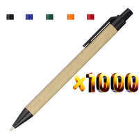 Lot 1000pcs Eco Paper Ball Pen,Plastic Clip,Black Ink Ballpoint Green Concept Environmental Friendly,Customized Promotion Gift