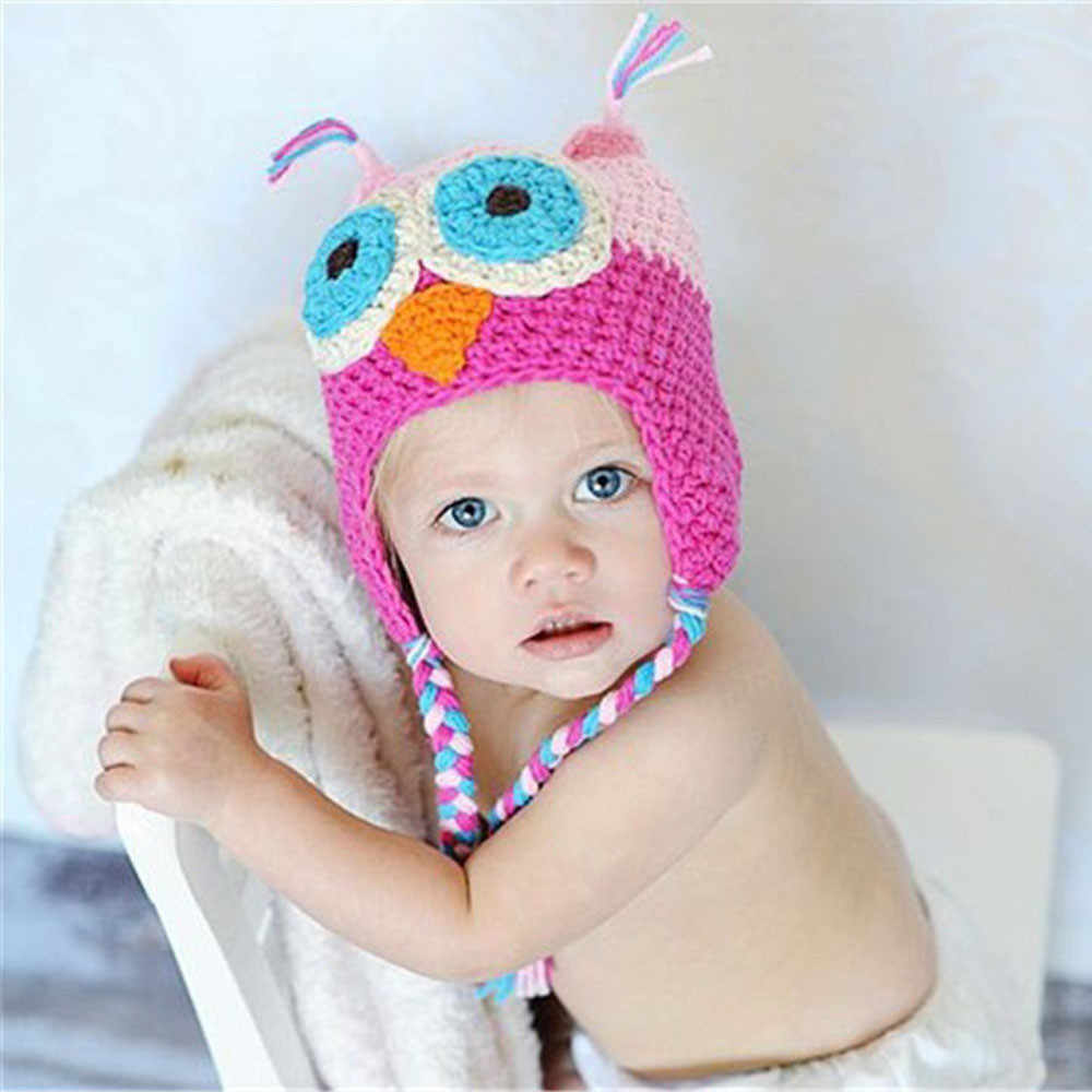 8a31cd51915 Detail Feedback Questions about Fashion Cute Baby Girl Toddler Owls Knit  Crochet Winter Hat newborn photography props Boys Girls Beanie Cap Casual  Hats on ...