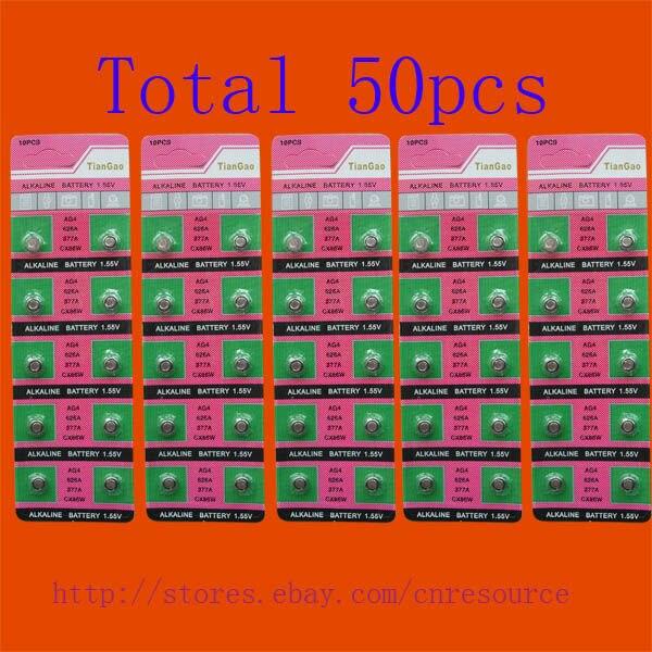 50 X AG4 LR626 <font><b>377</b></font> SR626SW alkaline <font><b>battery</b></font> TQP