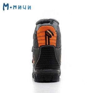 Image 4 - MMNUN 2018 חם קרסול חורף מגפי בני אנטי להחליק ילדים בני חורף נעליים עמיד למים שלג מגפי בני 7 14 גודל 32 37 ML9271
