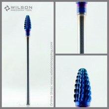Мини конус-средний(M-1130127) синий Нано покрытие WILSON Карбид ногтей бит для электрическая машинка для маникюра