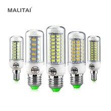 Светодиодный кукурузный светильник лампы 24 36 48 56 69 72 светодиодный s E27 E14 220V Люстра Светодиодная лампа свеча заменить лампы накаливания CFL(7 Вт, 12 Вт, 15 Вт, 25 Вт
