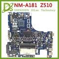 KEFU VILZA NM-A181 материнская плата для Lenovo Z510 материнская плата для ноутбука PGA947 nm-a181 материнская плата оригинальный тест DDR3 Материнская плата