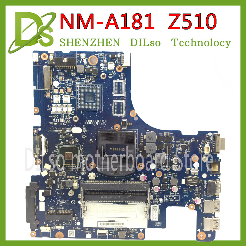 KEFU VILZA NM-A181 carte mère pour Lenovo Z510 ordinateur portable carte mère PGA947 nm-a181 carte mère Test original DDR3 carte mère