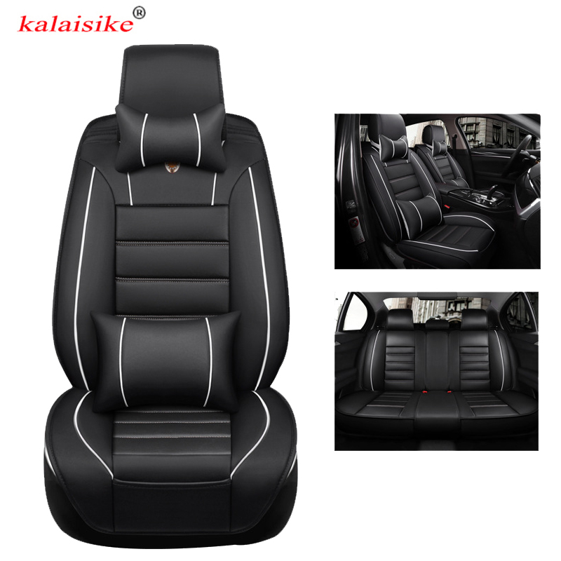 kalaisike leather universal car seat cover for Hyundai all model solaris creta getz accent ix25 Elantra Genesis ix35 i40 i30 i20 for hyundai solaris accent i30 ix35 elantra santa fe i20 tucson getz creta ix25 i40 sonata i10 coupe ix20 i20 car side nylon net