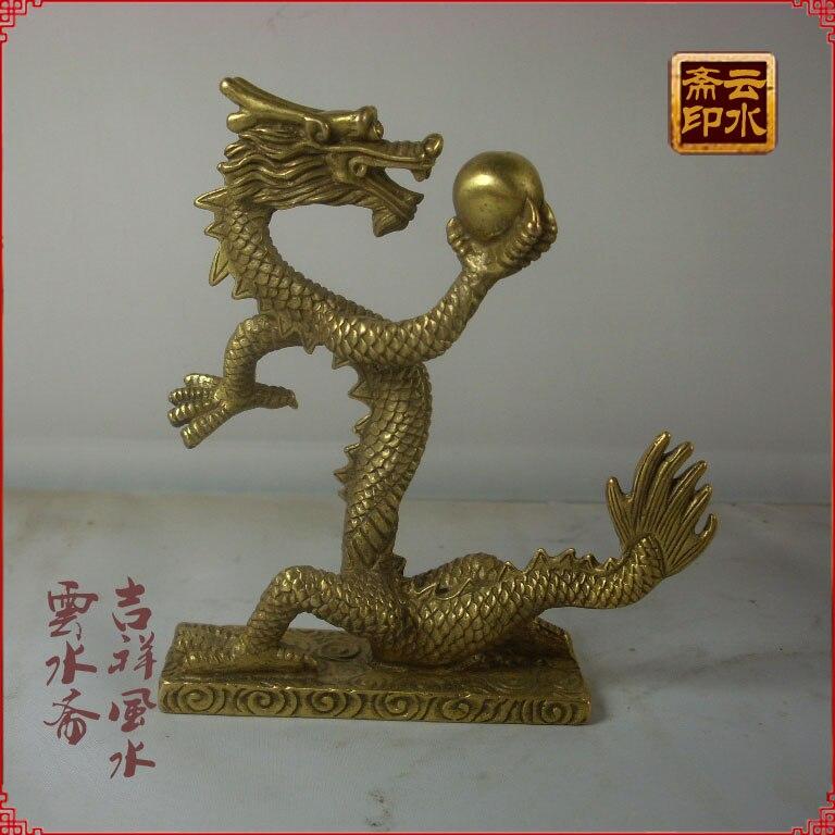 Décoration lumineuse artisanat cuivre dragon dragon vol LTSH Wang entreprise méchant Tong Feilong