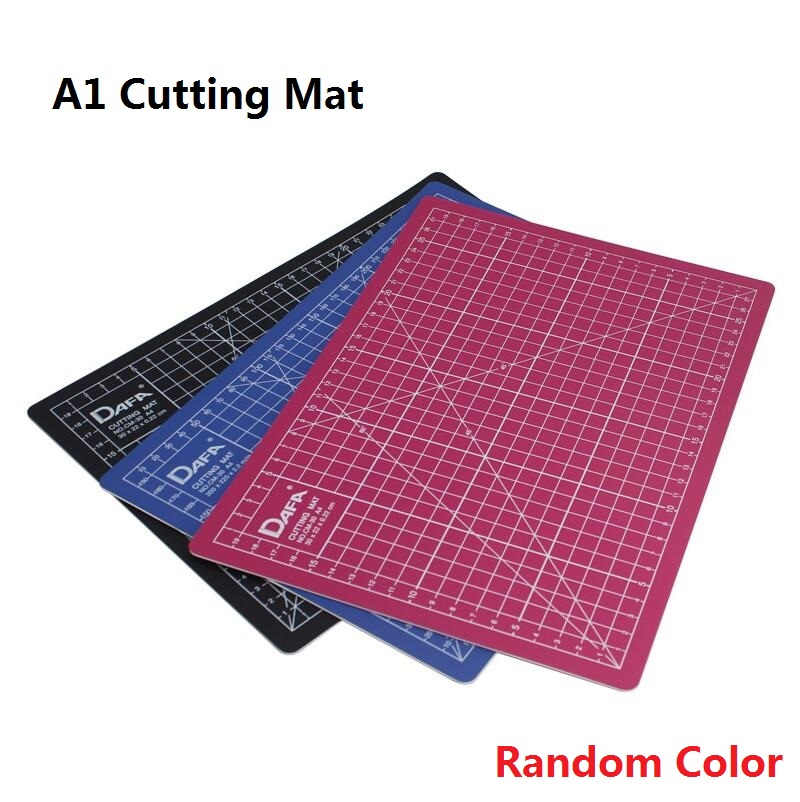 A1 Black Bule Pink Color Cutting Mat Self-healing Engraved paper Cutting board sculpture plate Esteira de corte (Random Color) 7 inch black round plastic rotary plate turnplate clay pottery sculpture tool