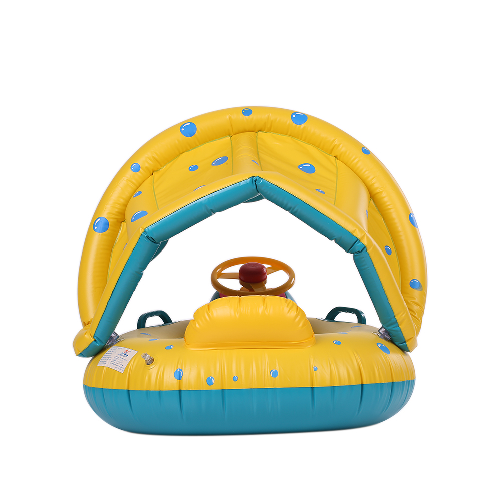 PVC Baby Infant Swimming Float Safe Inflatable Baby Swimming Ring Pool Adjustable Sunshade Seat Swimming Pool Inflatable Toys