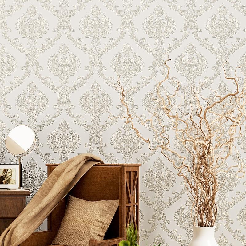 beibehang European Pink Damascus living room papel de parede 3d wallpaper for walls 3d decorative bedroom flooring contact-paper