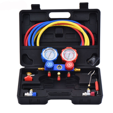 R134 Car Air Conditioning And Fluoride Tool Set Refrigerant Pressure Gauge Car Plus Fluorine Tool Set Snow Pressure Gauge needle gauge gauge pressure gauge set of 3