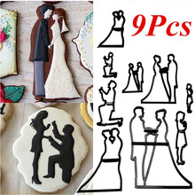 Wedding-Cake Mold-Tools Cookie-Cutter Couples Silhouette Fondant New of Groom Bride
