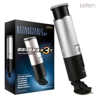 Leten X9 Telescopic Hands Free Male Masturbator Sex Toy For Man Full Automatic Pistion Aifcraft Cup Powerful Blowjob Sex Machine
