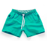 Green-Men Beach Sport Swim Trunks Surf Swimwear Quick Drying Briefs