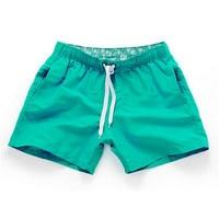 Green-Men Beach Sport Swim Trunks Surf Swimwear Quick Drying Briefs