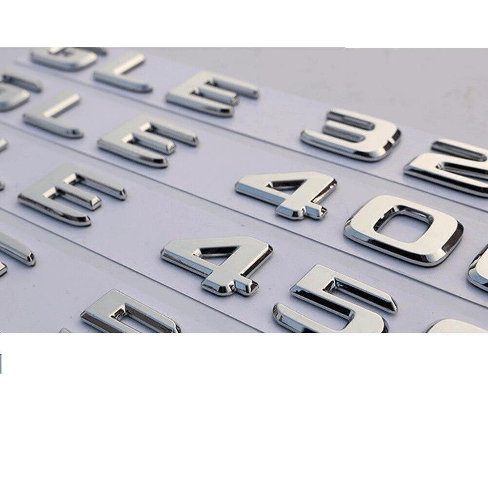 Chrome Trunk Letters Number Emblem Emblems Badge Badges for Mercedes Benz GLE300