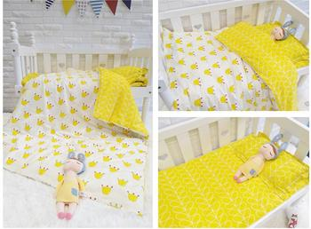 With Filling Crown Infant Cartoon Cot Bedding Set Toddler Crib Decoration Baby Gifts kit berço,Duvet /Sheet/Pillow