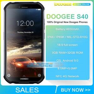 "Image 2 - 3GB + 32GB DOOGEE S40 5.5 ""HD 4G شبكة هاتف محمول وعر IP68 مقاوم للماء 4650mAh 8MP MT6739 أندرويد 9.0 فطيرة الهاتف الذكي"