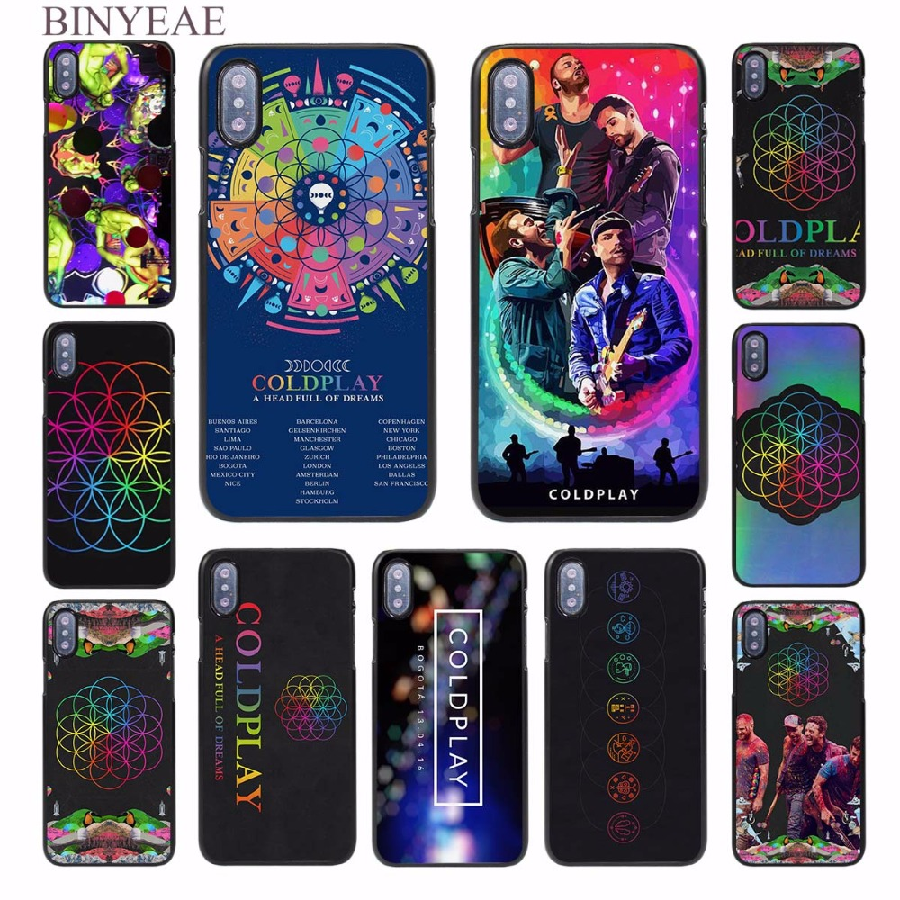 BINYEAE Coldplay A Head Full of Dreams design hard black Case Cover for Apple iPhone 8 8 Plus 8x SE 5s 6 6s 6 Plus 6s Plus 7 7Pl