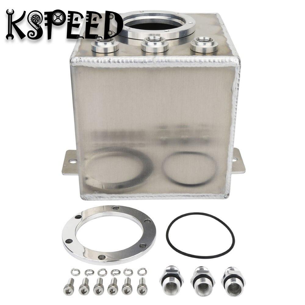 цена на 2L Raw Billet Aluminum Fuel Surge Tank for 044 Fuel Pump 6AN