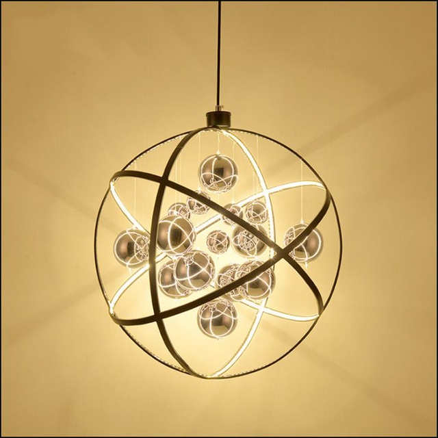 Post Modern Pendant Lights European Gl Ball Decorative Led Wrought Iron