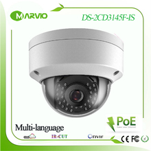 H.265 4MP Outdoor DS-2CD3145F-IS camara ip network camera ipcam home security Audio support 128GB onboard storage