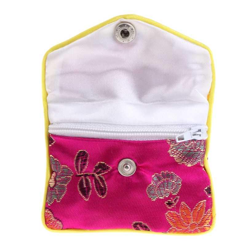انخفاض والجملة أكياس تخزين المجوهرات الحرير التقليد الصيني الحقيبة محفظة الهدايا جواهر المنظم abr28