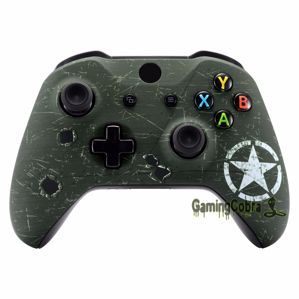 WWII US Army Overlord Patterned Front Shell Cover For Xbox One S Game Controller