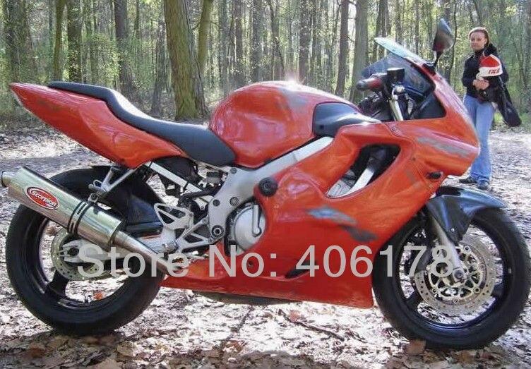 Offres spéciales, CBR600F4 99 00 carrosserie de vélo de course pour Honda CBR600 F4 1999 2000 carénages de moto Orange (moulage par Injection)
