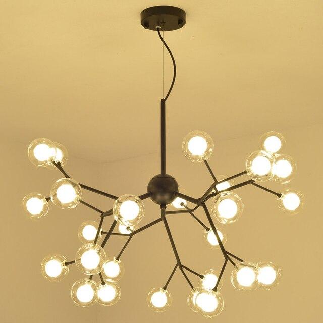 Post modern Dia.65cm LED Chandelier Light Firefly Tree branch glass ...