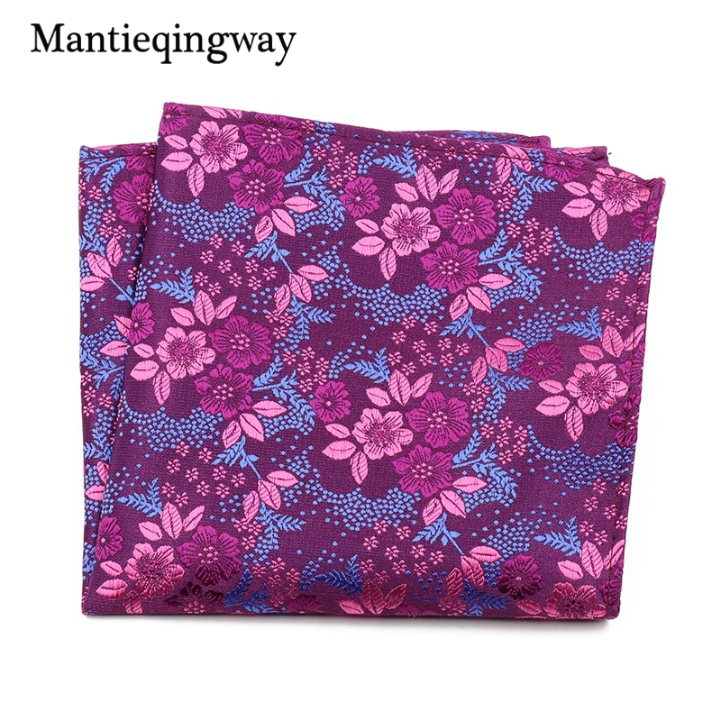 Mantieqingway Paisley Floral Handkerchief Polyester Pocket Square For  Mens Suits Wedding Pocket Squares Chest Towel Hankies