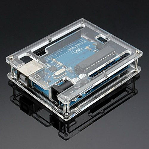Uno MEGA328P Case Enclosure Transparent Acrylic Box Clear Cover Compatible with For Arduino UNO R3 Diy Free Shipping
