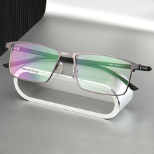 P9960 мужские титановые зеркальные Мужские очки из гальванического сплава, с полным ободком и половинным ободком