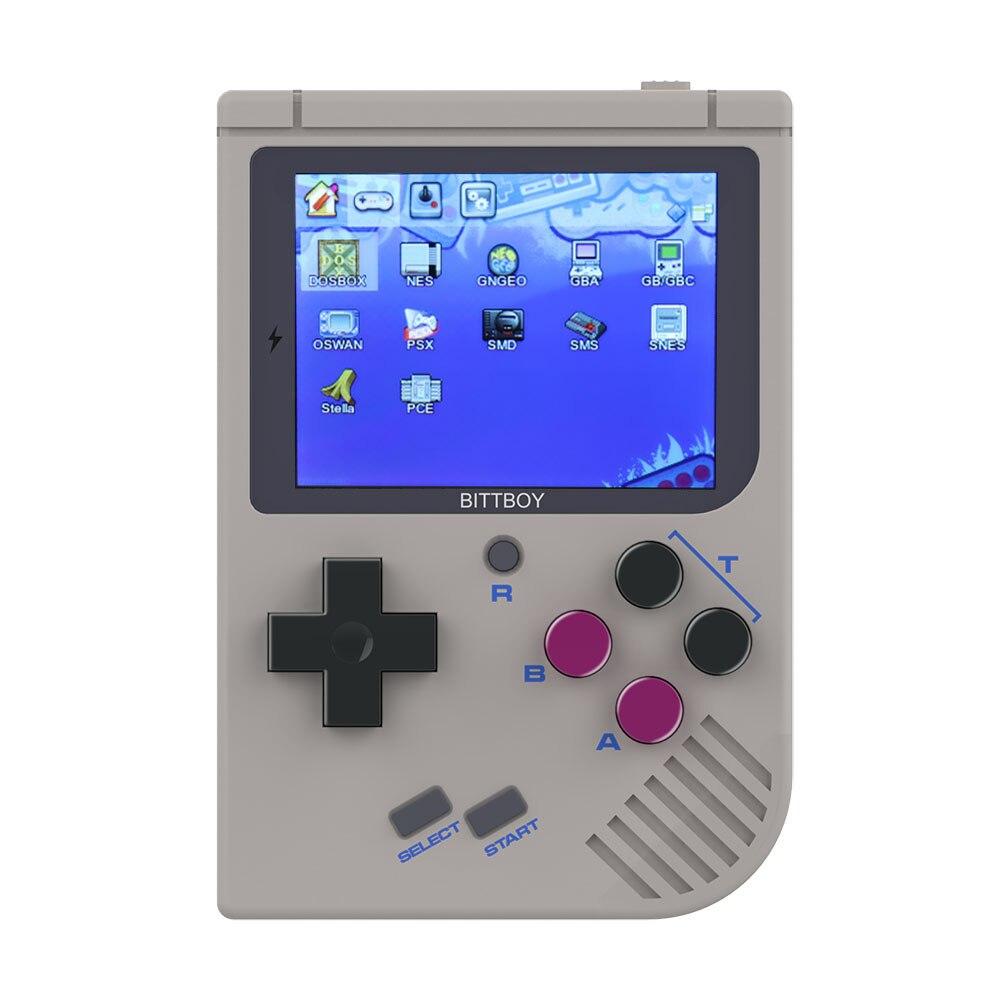 Nouveau BittBoy V3.5 Console de jeu vidéo rétro poche enregistrer/charger Console de jeu système de préchargement Steward