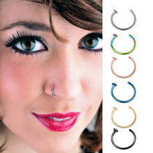 Droppshiping Fake Septum Medical Titanium 8mm Nose Ring Body Clip Hoop For Women Septum Piercing Clip Jewelry Gifts 1pc(China)