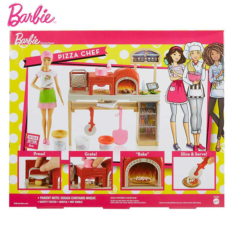New Original Barbie Doll Pizza Making Fun Dolls The Girlbrinquedos Gift  Boneca GirlsToys Baby Doll Girl Toys for Kids Children