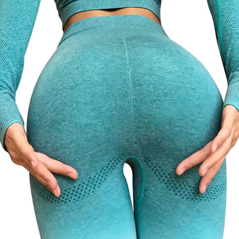 573944cb9e945d Women Yoga Pants Sport Leggings Gym Shark Fitness Seamless High Waist  Running Tights Mallas Mujer Deportivas